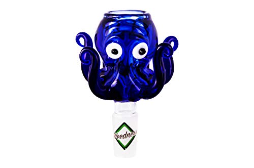 Bong in vetro Accessori Octopus 14,5 mm per Chillum - testa a spina Adattatore per testa bong bowl