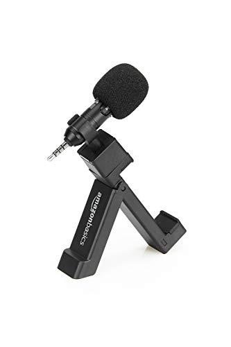 Amazon Basics Micrófono con clip para teléfono móvil - negro
