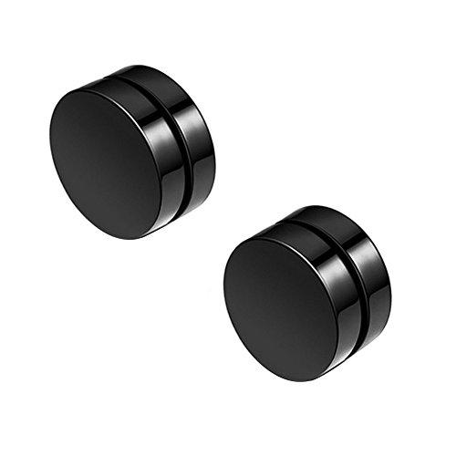 Pendientes magnéticos de Aiuin, si perforación, redondos, incluyen estuche