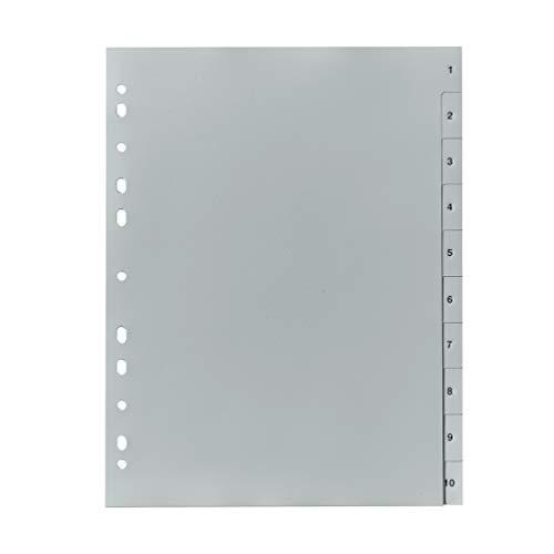 Falken PP plastic register voor DIN volledige hoogte druk 1 tot 10 ganze Höhe Cijfers