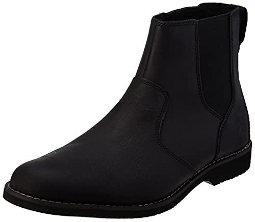 Timberland Herren Woodhull Chelsea Stiefel, Black Full Grain, 47.5 EU
