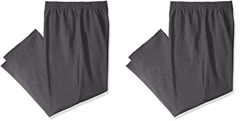 Fruit of the Loom Men's Fleece Sweatpants, Charcoal Heather (2 Pack), Large