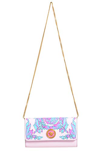Versace bolsa de ombro feminina multicolorida 100% couro - Multicolorida