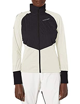 Craft Women's Storm Balance Quilted Reflective Nordic Snow Skiing Jacket, Black/Tofu, Large