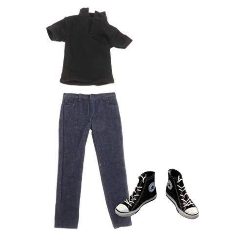 Injoyo 1/6 T-Shirt Jeans Männliches Turnschuhe ür 12 Zoll Männliche Figur Körper