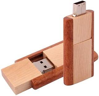 QGT USB Flash Drives 4 GB Wood Material USB Flash Disk (Color : Color1)