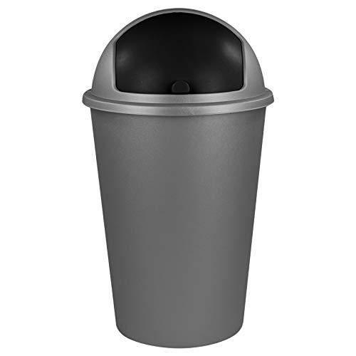 TW24 Abfalleimer 50L mit Farbauswahl - Kosmetikeimer - Mülleimer - Badezimmereimer - Abfallbehälter (Grau)