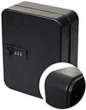 Steel Key Cabinet Security Box Wall Mount with Combination Lock and Radom Color Key Tags-Holds 24 Keys