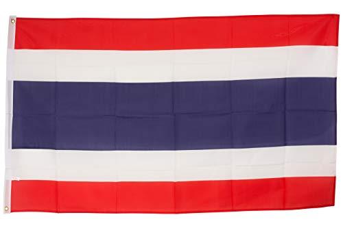 SCAMODA Bundes- und Länderflagge aus wetterfestem Material mit Metallösen (Thailand) 150x90cm