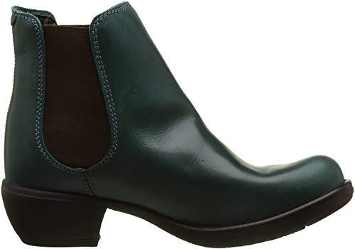 FLY London Damen MAKE Chelsea Boots Stiefel, Grün (Petrol 031), 38 EU