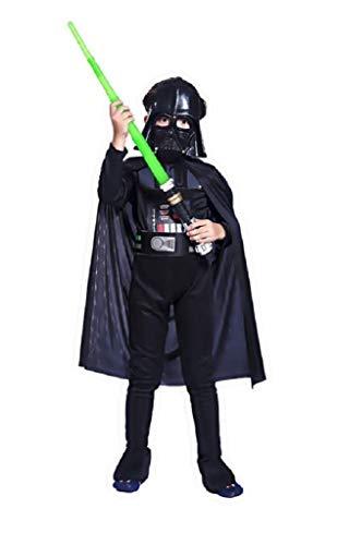 Costume star wars carnevale travestimento darth vader bambino carnevale vestito (taglia s) 4-6 anni travestimento ottimo come regalo per natale o compleanno
