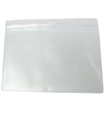 Pack de 50 vinilo A6 Tarjeta de plástico ID Badge Nombre Tag...