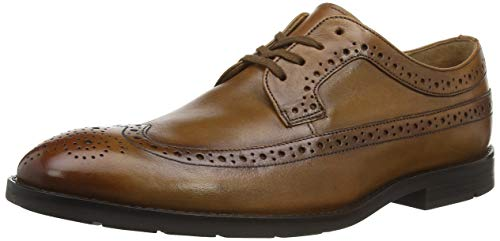 Clarks Ronnie Limit, Scarpe Stringate Derby Uomo, Marrone (Tan Leather Tan Leather), 42 EU