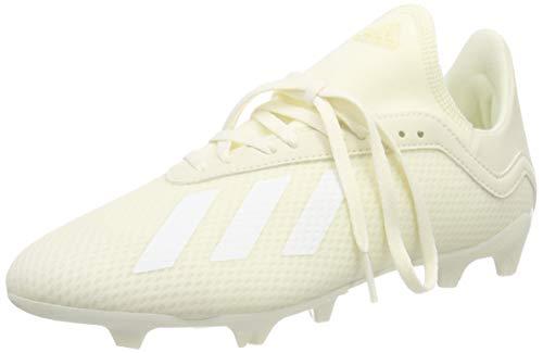 adidas X 18.3 FG J, Zapatillas de Fútbol para Niños, Blanco (Off White/FTWR White/Off White), 33 EU
