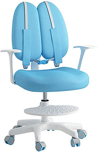 WLP-WF Kid Desk Chair Kinder-Lernstuhl Hump-Proof Hocker Home Mit Rückenlehne Verstellbarer Lifting Room Reading Bequemer Stuhl (Farbe: Blau, Größe: 80-87X45X60Cm),Blau,80-87X45X60Cm