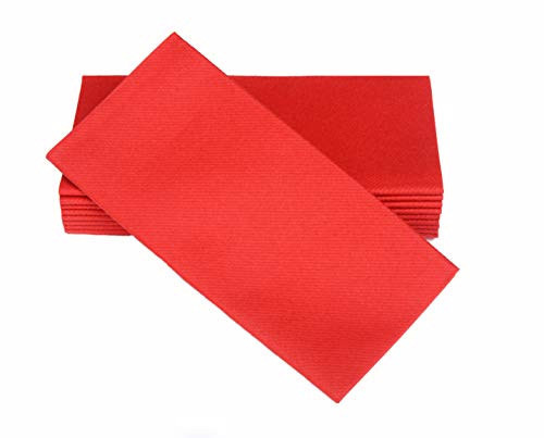 Simulinen Colored Napkins - Decorative Cloth Like & Disposable, Dinner Napkins - RED - Soft, Absorbent & Durable - 16