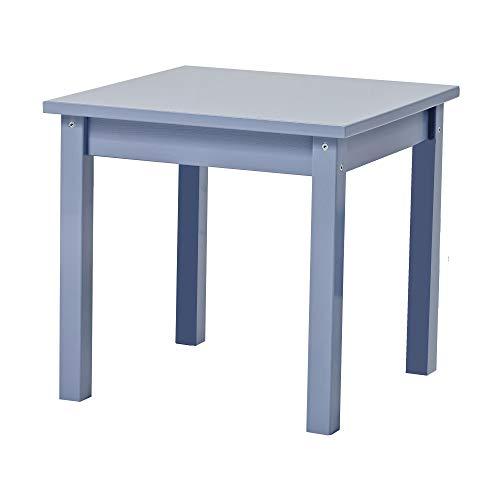 Hoppekids Mads Kindertisch, Teil massiv, Blau, 50 x 50 x 47 cm