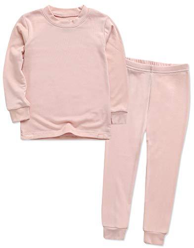 VAENAIT BABY Kids Long Sleeve Modal Sleepwear Pajamas 2pcs Set Modal Milkpink XS