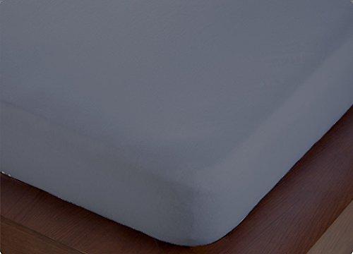 ForenTex - Sábana Bajera Ajustable, (M-4001), Gris, Cama 105 cm