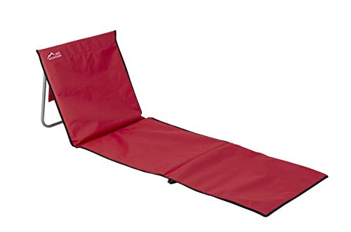 Red Mountain - Esterilla de Playa con Respaldo de Lota, Color Rojo
