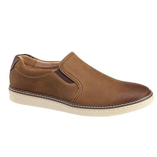 Johnston & Murphy McGuffey Herren-Sneaker, Braun (Hellbraunes, geöltes Vollnarbenleder.), 43 EU