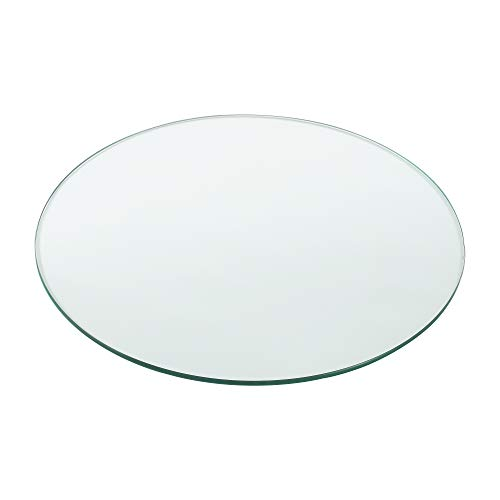 [neu.haus] Glasplatte Ø50cm Rund Glasscheibe Tischplatte ESG Glas Kaminplatte Kaminglas DIY Tisch