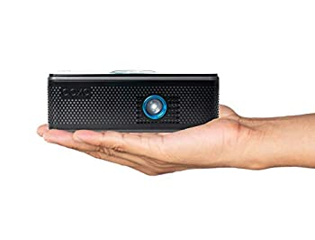 AAXA BP1 Speaker Projector – Bluetooth 5.0 1080P Support Battery Power Bank Up to 6 Hour Projection or 24 Hours Playtime USB-C Mirroring Onboard Media Player HDMI DLP Portable Mini LED Projector