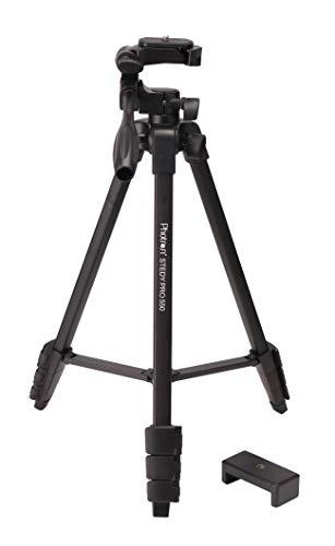 Photron STEDY PRO 550 Tripod with Mobile Holder for Smart Phone, DSLR, Mobile Phone | Maximum Operating Height: 1365mm | Weight Load Capacity: 2.5kg | Folded Height: 425mm, Case Included