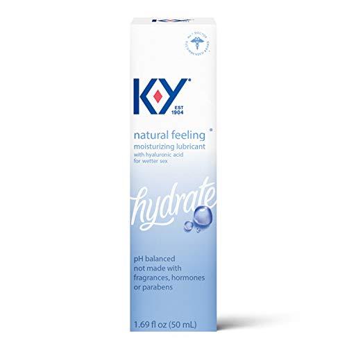 K-Y Natural Feeling With Hyaluronic Acid, 1.69 Fl Oz, Moisturizing Water Based Formula Free From Fragrances, Parabens, Hormones and Glycerin, 1.69 Fl Oz