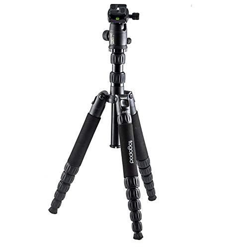 togopod Stativ Mika aus Alu inklusiv 360° Kugelkopf + Tasche + Schnellwechselplatte. ( max. Höhe 170cm, Packmaß 36cm, Tragfähigkeit 25kg, Gewicht 1,85 kg )