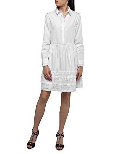 Replay Damen W9560A.000.83214 Kleid, Weiß (White 1), Medium (Herstellergröße: M)