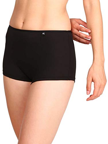 Jockey Women's Boy Leg short (SS04_Black_M)