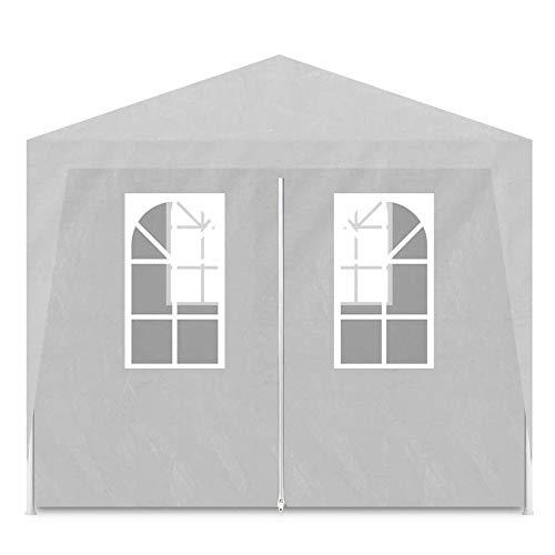 HO-TBO Garten Gartenlauben Nicht-Top 6 Wand Tent Wedding Party-Zelt im Freien Reisen Picknick capming Zelt Sonnenschutz Blau Weiß (Color : White, Size : 3x6x2.5 m)