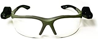 3M Light Vision 2 Protective Eyewear 11476-00000-10 Clear Anti-Fog Lens, Gray Frame, Lights
