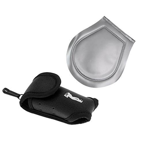 perfeclan Mini Golf Ball Holder Pouch Tees Bolsa De Almacenamiento Paquete De Cintura Negro Y 4.3 X 3.9 Pulgadas Paño De...