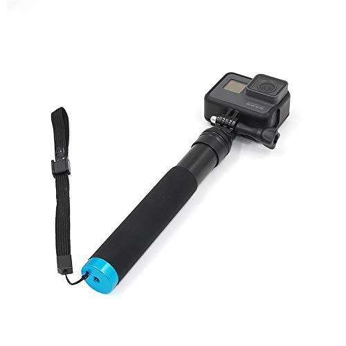 Tyueliang-Home Selfie Sticks Hand Einbein-Stativ Selfie Stick-Pol mit Clip for Smartphones GoPro Hero 4 5 6 SJCAM Stativ Selfie-Stick Stativ für Reisen (Color : Black, Size : One Size)