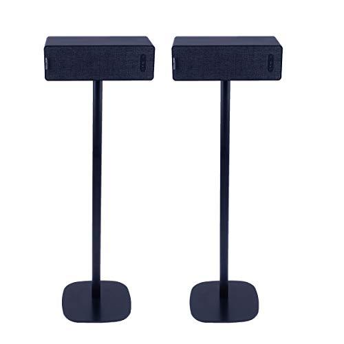 Vebos Soporte de Pie para IKEA Symfonisk Horizontal Negro Pareja Experiencia óptima en Cada habitación - Le Permite Colocar su IKEA Symfonisk Horizontal exactamente Donde lo desee