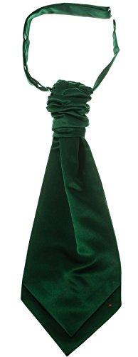 I Luv Ltd Gents Traditional Scottish Ruche Cravat Satin Tie Wedding Groom Green