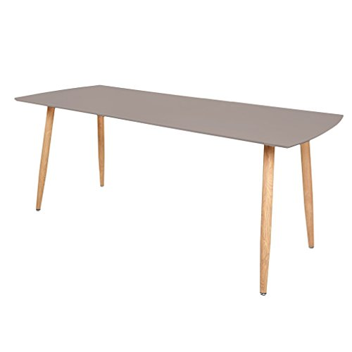 Zons Stockholm Table Extensible 140/180x80xH75cm Taupe