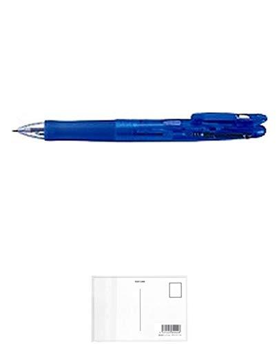 ゼブラ 2色ボールペン クリップ-オンG 2CE 青 B2A3-BL 10セット + 画材屋ドットコム ポストカードA