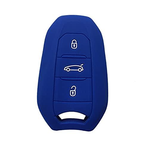 Funda para Llave de Coche para Peugeot C6 508 C5 C3 508 2008 3008 C4 Aircross Picasso Grand Funda Protectora para Llave remota, Azul
