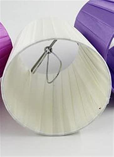 IVNGRI Dia 1 2 cm / 4.21 Pulgadas Mini lámparas, de Color Blanco/Color Blanco Claro/Color Fresco Color Blanco/Color púrpura, Clip en (Body Color : Beige)