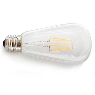 HZZymj-E26/E27 Ampoules à Filament LED 4 COB 360 lm Blanc Chaud Décorative AC 85-265 V 1 pièce