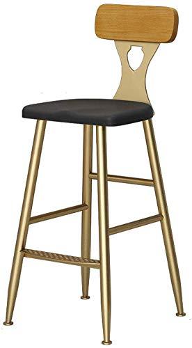 tabouret de bar DBL Tabourets Meubles de Salon Sunken Siège Polyvalent Hauteur comptoir Robuste Tabouret Construction Chaise Assemble Pub Bois de Fer Dossier