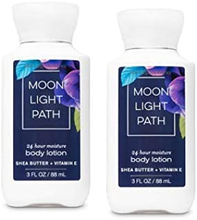 Bath and Body Works 2 Pack 24 Hour Moisture Moonlight Path Travel Size Body Lotion 3 Oz.