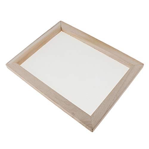 oshhni 7 Größen Papierherstellung Papier Schöpfrahmen, Papierherstellung Rahmen, Papierschöpfsieb, Papierschöpfrahmen Bildschirm Rahmen Zubehör - 30X40C, 19 x 25 cm 2 in 1