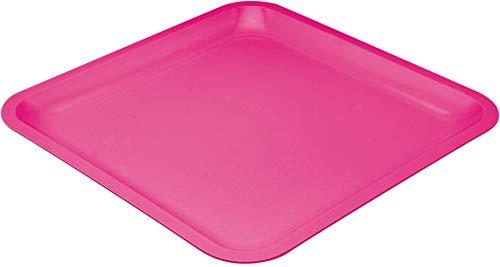 Zak!Designs Seaside - Plato (26 x 26 cm), color rosa