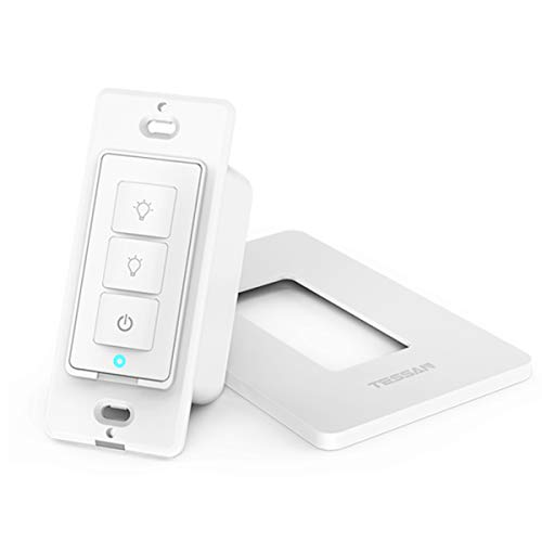 Extra Add-on 3 Way Smart Dimmer Switch, Work as Slave Add on 4 Way Switch for TESSAN 3 Way WiFi Dimmer Switch Kit, Can not Work Alone