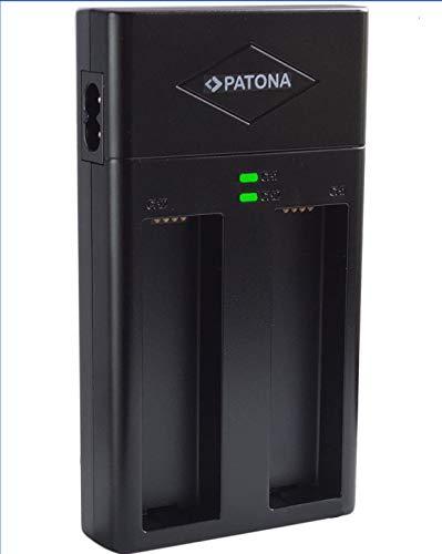 Patona Dual Ladegerät für DJI Osmo Handheld 4K Zenmuse X3 X5 X5R für Originalakku DJI OSMO Part 7 HB01-522365