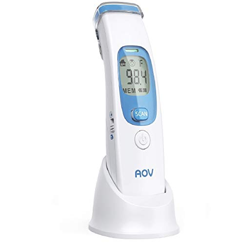 Baby Adult Digital Thermometer for Precise Fever Tracking at Home White Forehead Thermometer